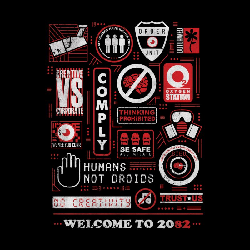 Welcome to 2082 Accessories Face Mask by Threadless Artist Shop