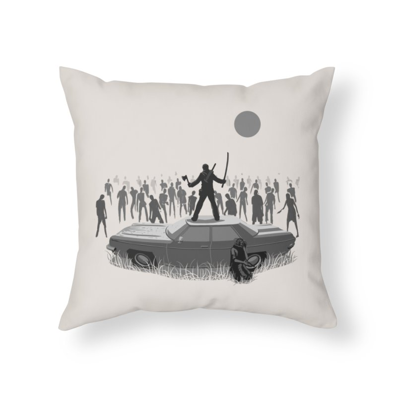 The End of The Road Home Throw Pillow by Threadless Artist Shop