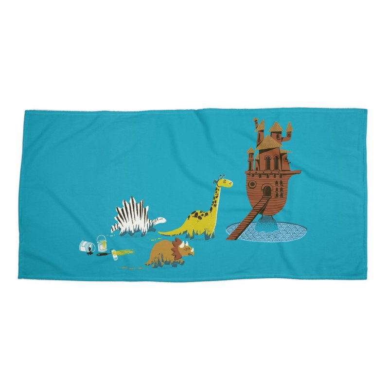 Nice Try, Dinosaurs! Accessories Beach Towel by Threadless Artist Shop