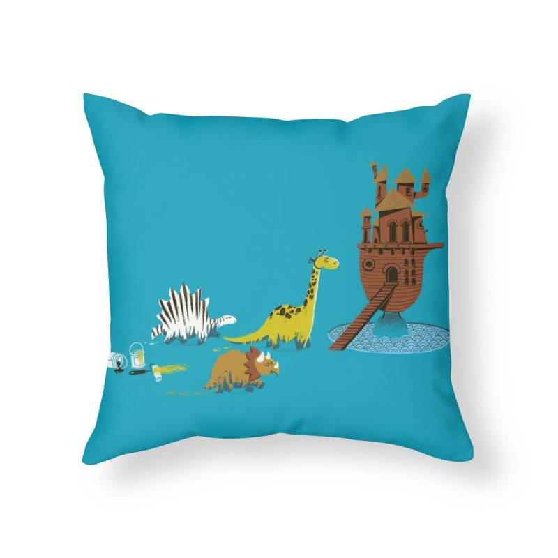 Nice Try, Dinosaurs! Home Throw Pillow by Threadless Artist Shop