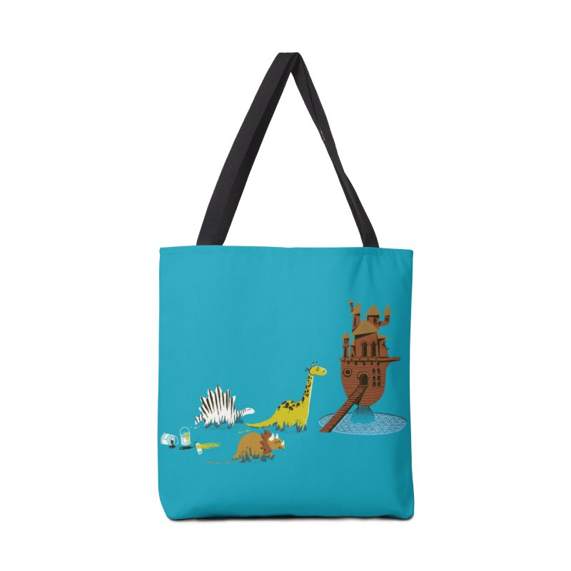 Nice Try, Dinosaurs! Accessories Bag by Threadless Artist Shop