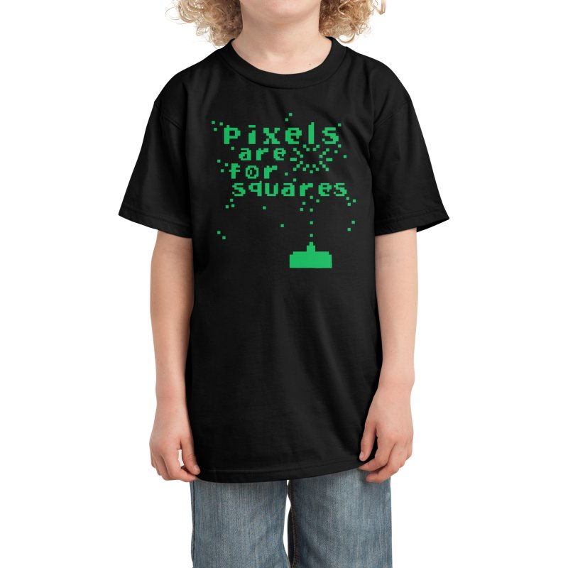 Pixels Are For Squares Kids T-Shirt by Threadless Artist Shop
