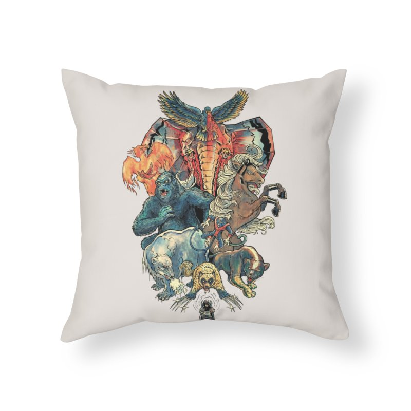 The X-MENAGERIE Home Throw Pillow by Threadless Artist Shop