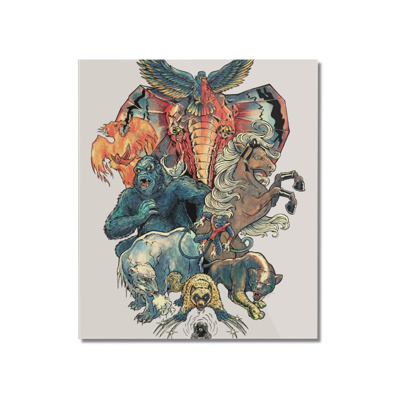 The X-MENAGERIE Home Mounted Acrylic Print by Threadless Artist Shop