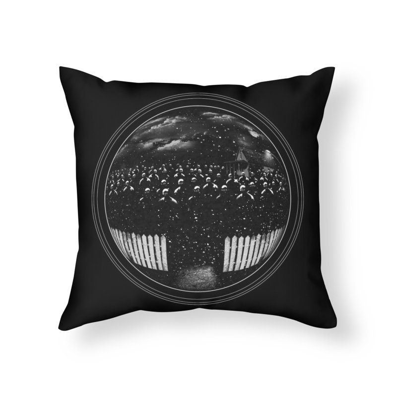 The Undead at My Doorstep Home Throw Pillow by Threadless Artist Shop