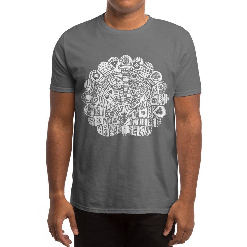 Peacock at Night Men's T-Shirt by Threadless Artist Shop