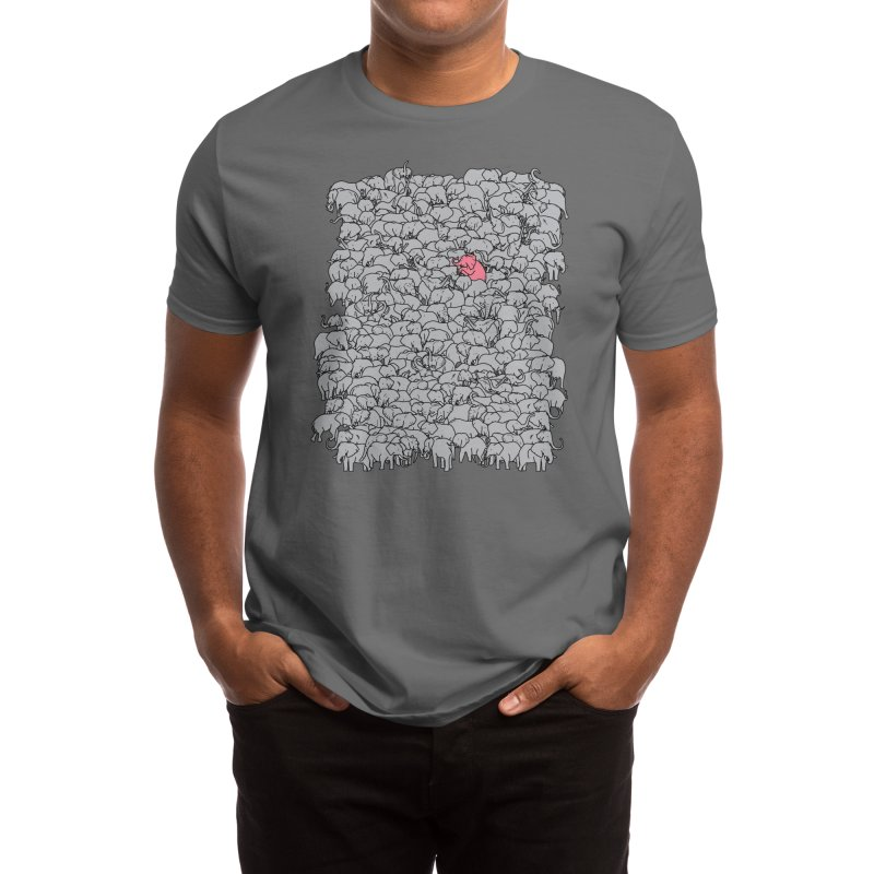 the Pink Pachyderm Men's T-Shirt by Threadless Artist Shop