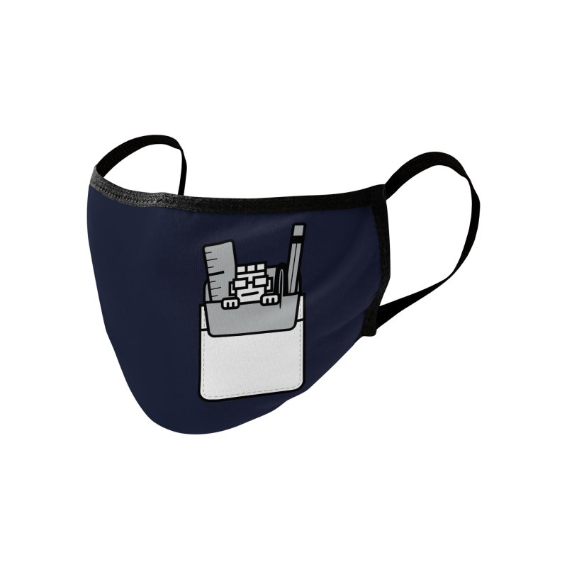Nerd in Pocket Accessories Face Mask by Threadless Artist Shop