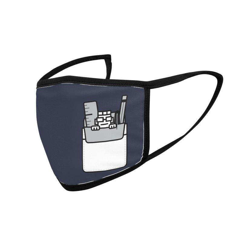 Nerd in Pocket Accessories Face Mask by Threadless Artist Shop