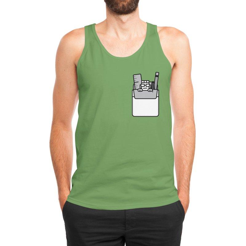 Nerd in Pocket Men's Tank by Threadless Artist Shop