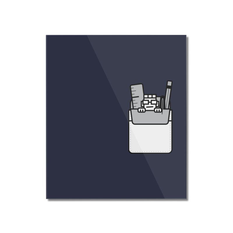 Nerd in Pocket Home Mounted Acrylic Print by Threadless Artist Shop