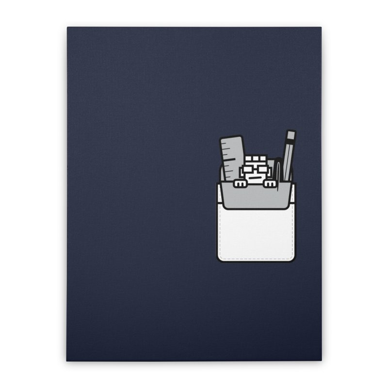 Nerd in Pocket Home Stretched Canvas by Threadless Artist Shop
