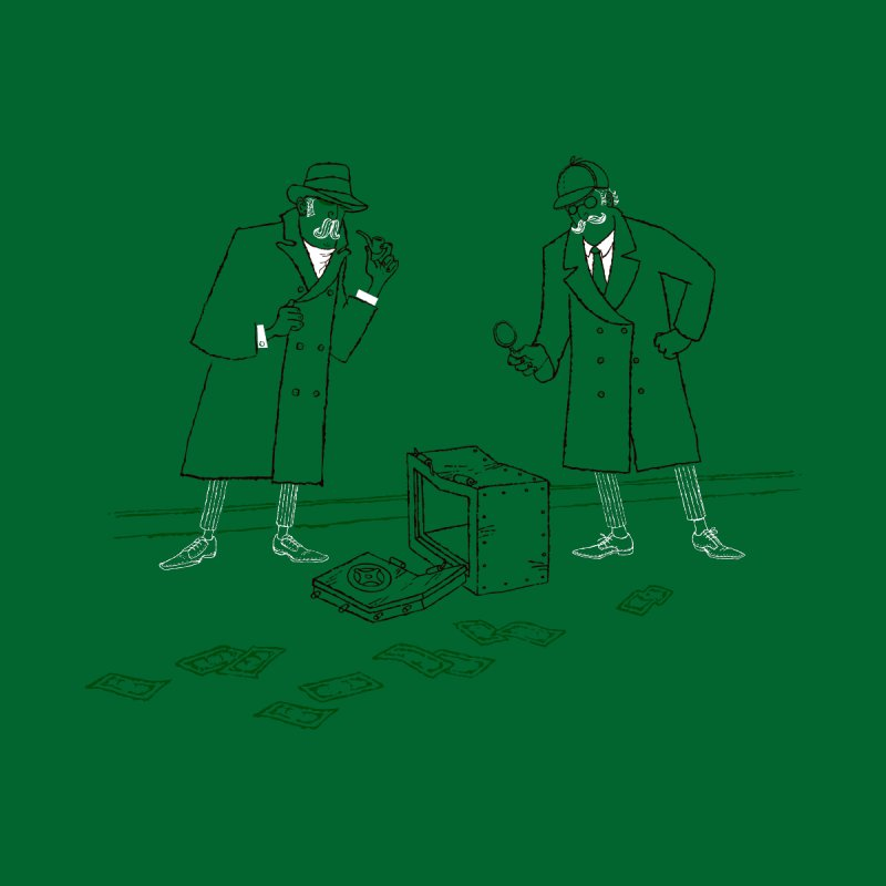 Two Detectives, One Crime Scene, One Thief Men's T-Shirt by Threadless Artist Shop