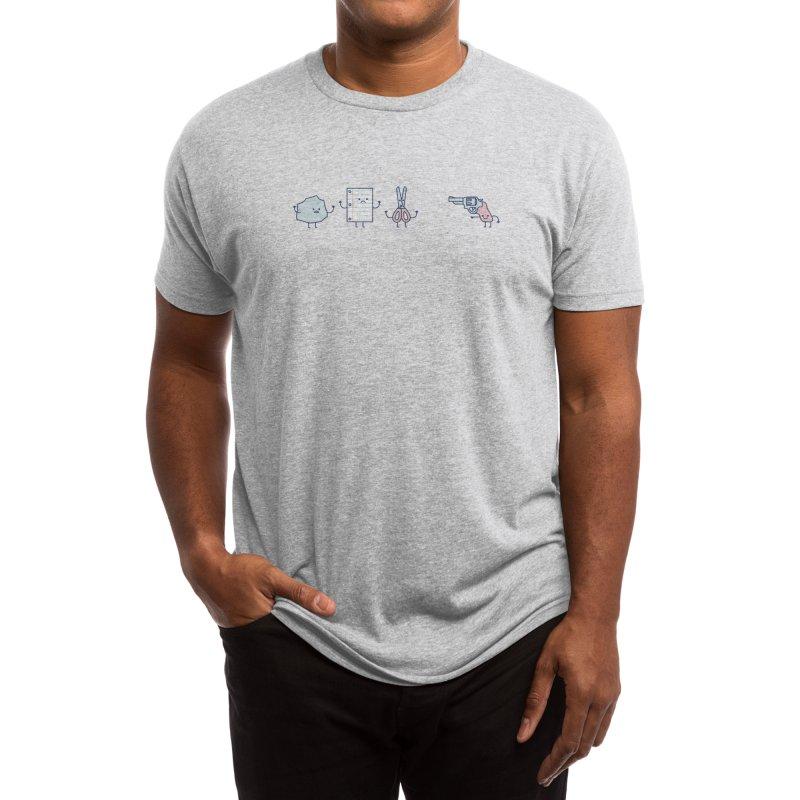 Rock, Paper, Scissors, Shoot! Men's T-Shirt by Threadless Artist Shop