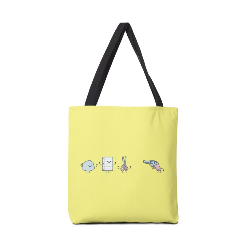 Rock, Paper, Scissors, Shoot! Accessories Bag by Threadless Artist Shop