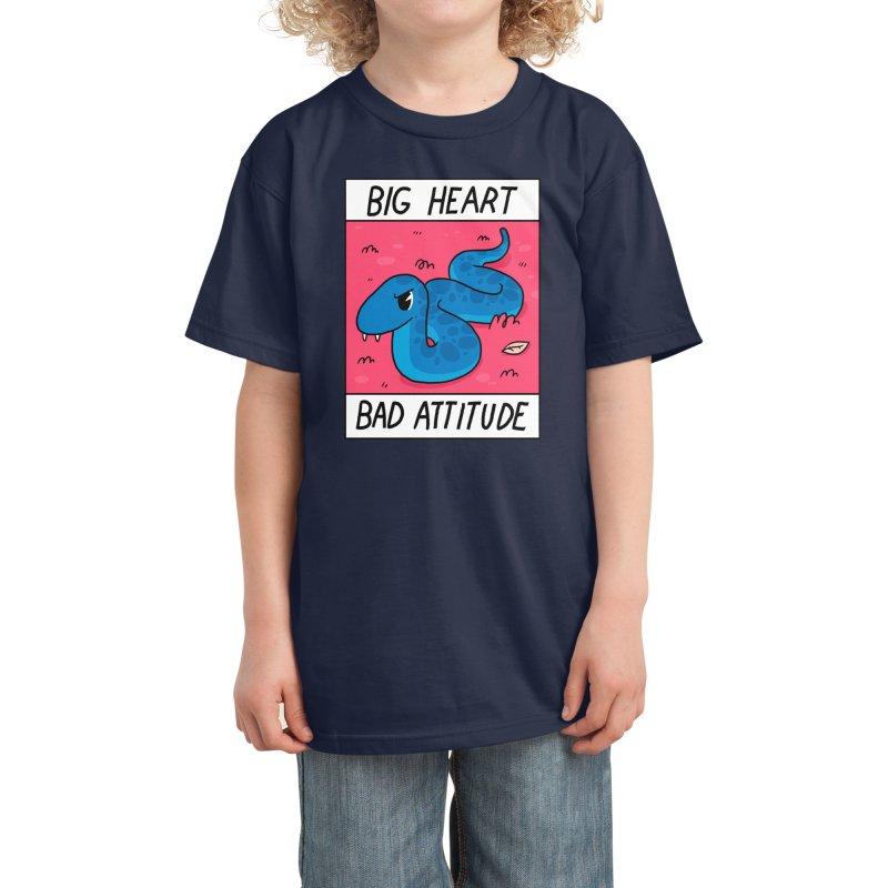 Big Heart/Bad Attitude Kids T-Shirt by Threadless Artist Shop