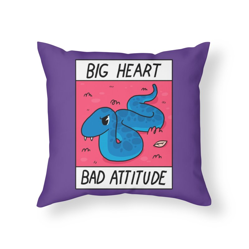 Big Heart/Bad Attitude Home Throw Pillow by Threadless Artist Shop