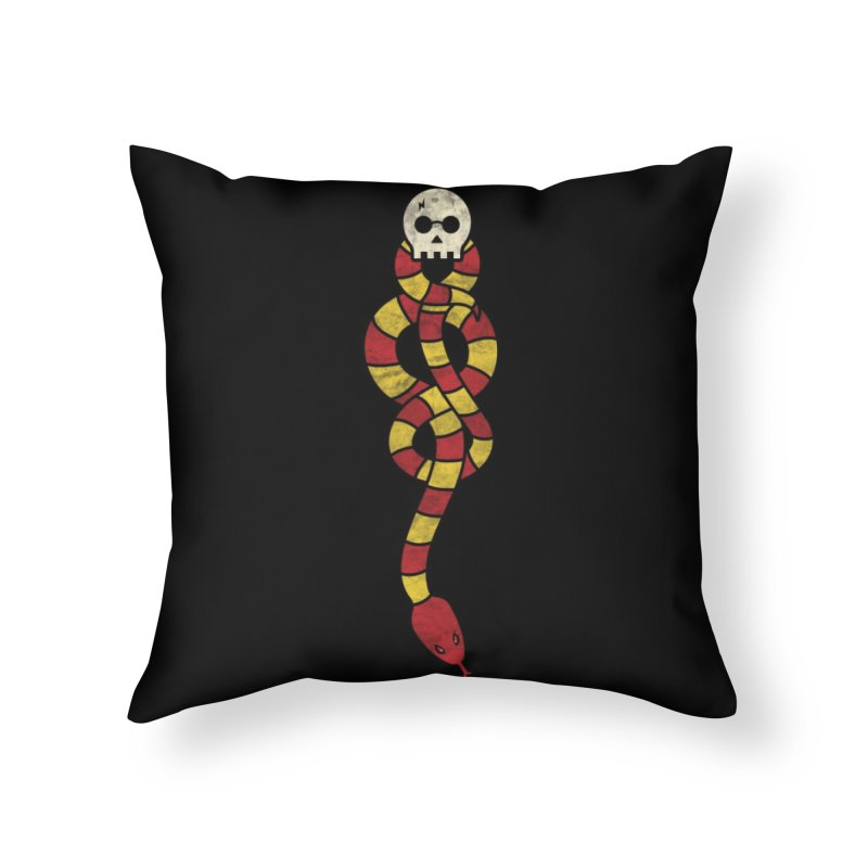 The Dark Scarf Home Throw Pillow by Threadless Artist Shop
