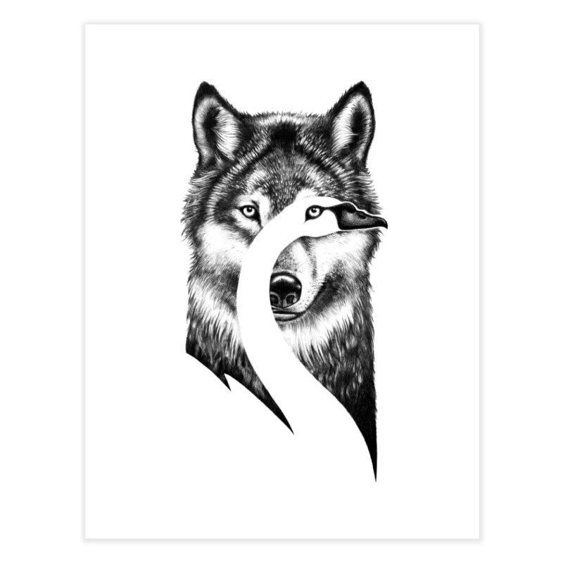 Beauty or Beast Home Fine Art Print by Threadless Artist Shop