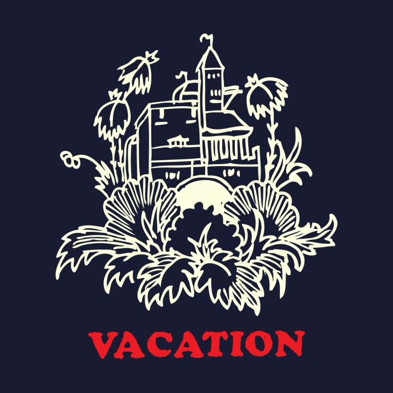 Vacation: Threadless Guys Pima Tee Men's T-Shirt by Threadless Artist Shop