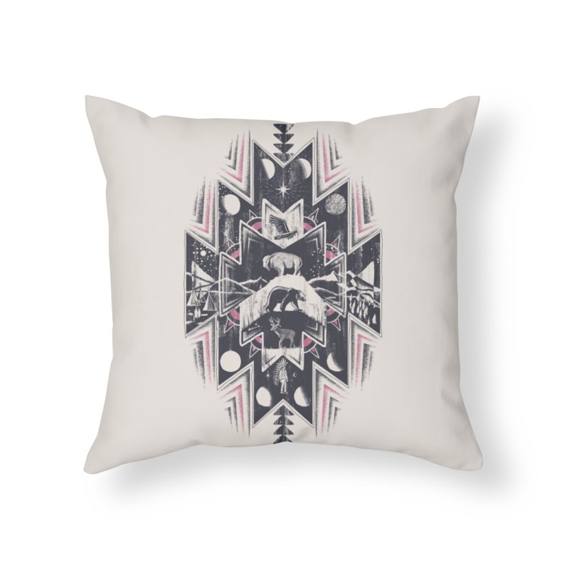 Phases Home Throw Pillow by Threadless Artist Shop