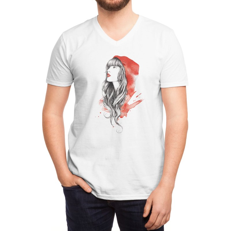 The Red Story Men's V-Neck by Threadless Artist Shop