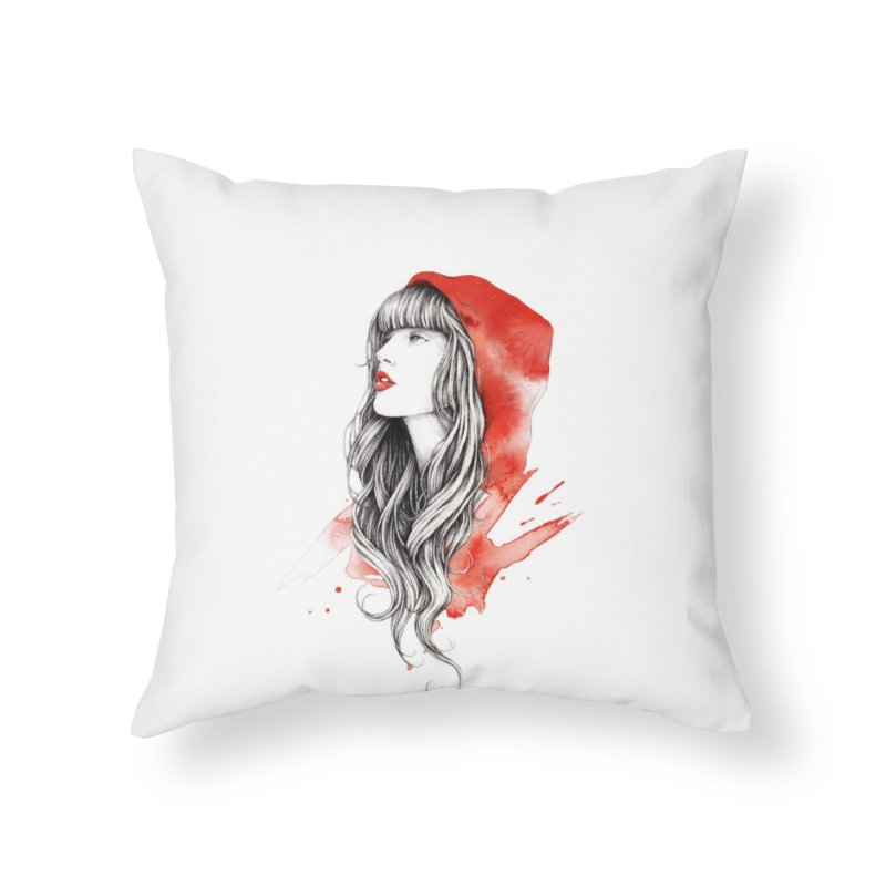 The Red Story Home Throw Pillow by Threadless Artist Shop