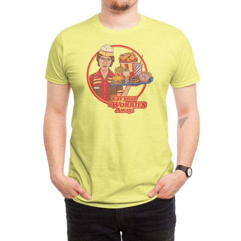 Eat Your Worries Men's T-Shirt by Threadless Artist Shop