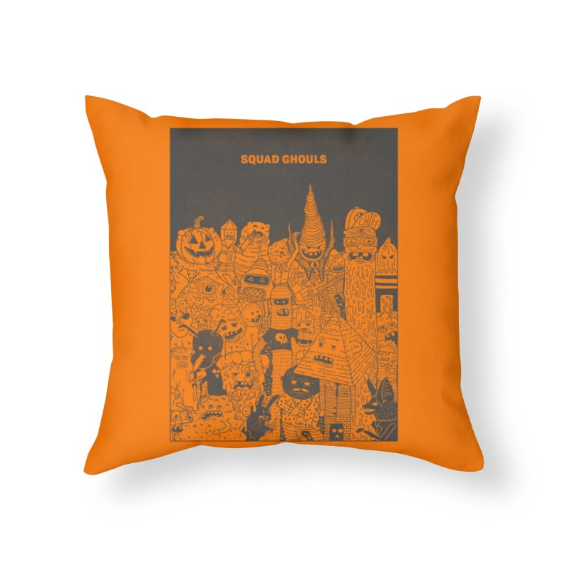 Squad Ghouls Home Throw Pillow by Threadless Artist Shop