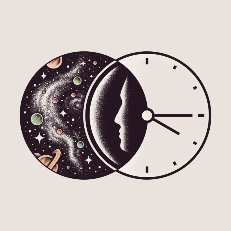 Space and Time Kids T-Shirt by Threadless Artist Shop