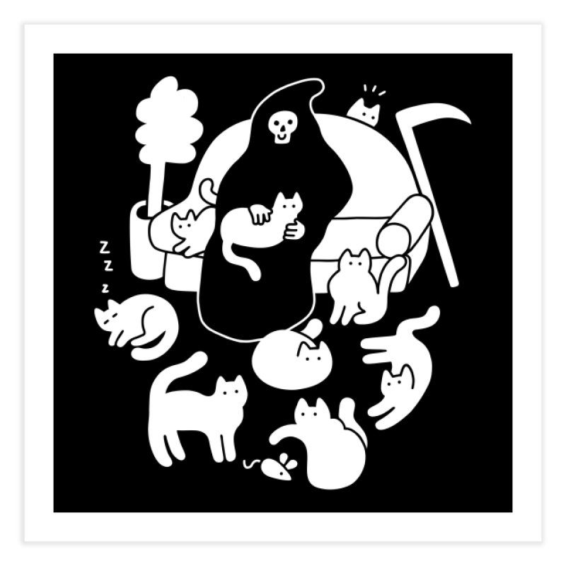 9 Lives Home Fine Art Print by Threadless Artist Shop