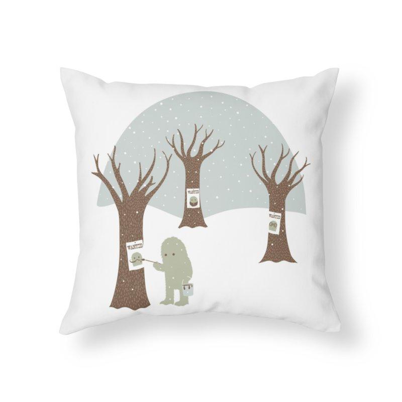 Wanted Home Throw Pillow by Threadless Artist Shop