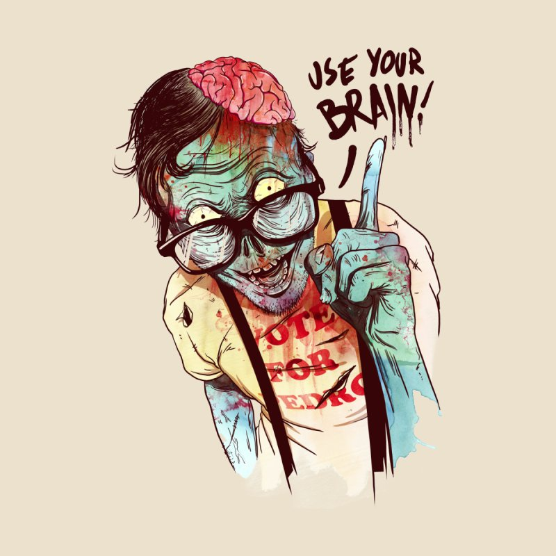 Use Your Brain Men's Tank by Threadless Artist Shop