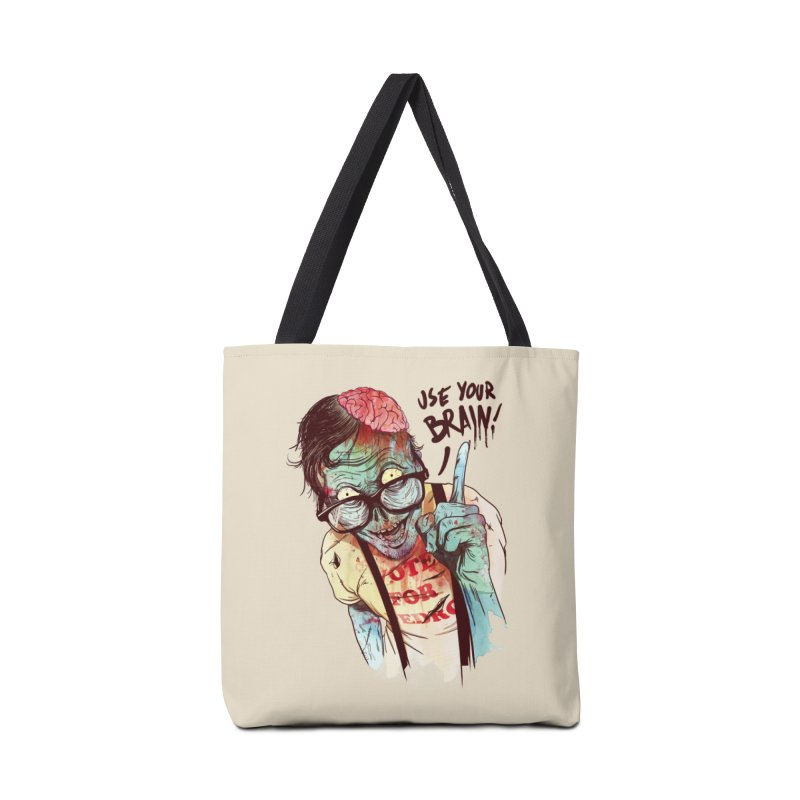 Use Your Brain Accessories Bag by Threadless Artist Shop