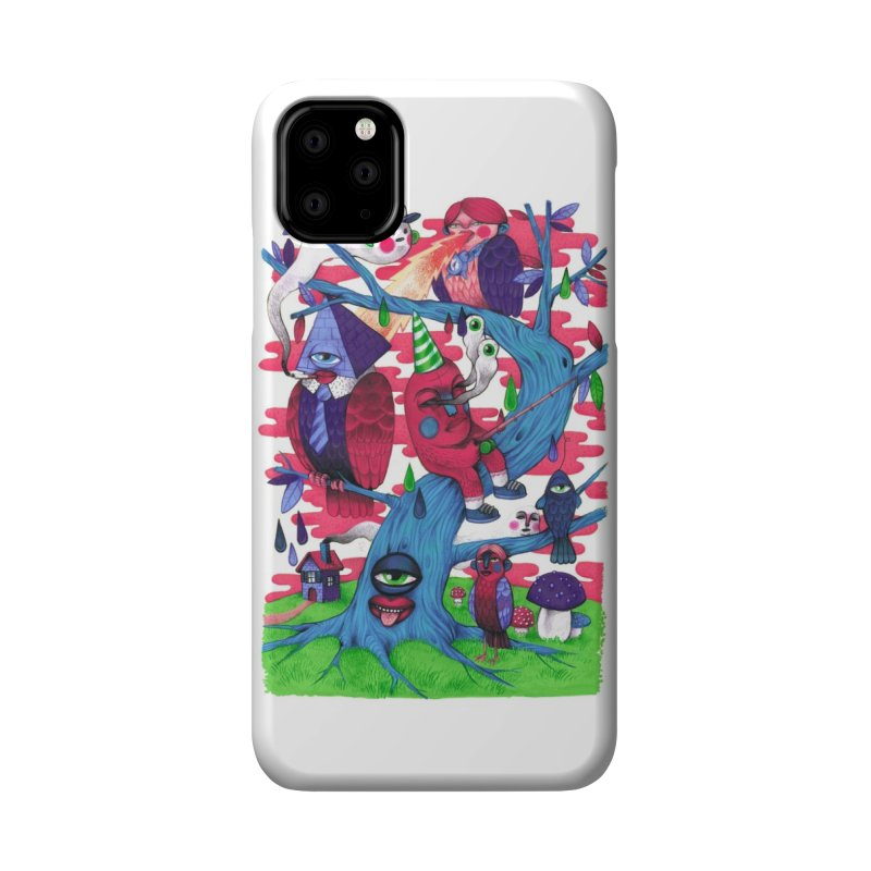 Tree and Birds Accessories Phone Case by Threadless Artist Shop