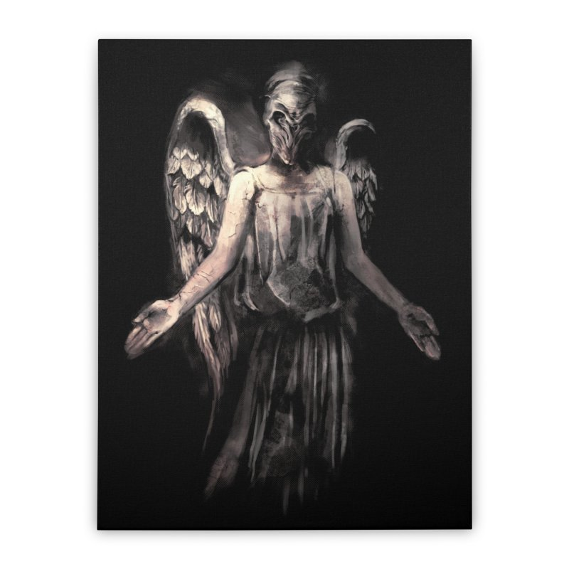 I've Forgotten Why I Shouldn't Blink Home Stretched Canvas by Threadless Artist Shop