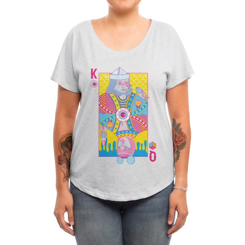 King of Nothing, Queen of Nowhere Women's Scoop Neck by Threadless Artist Shop