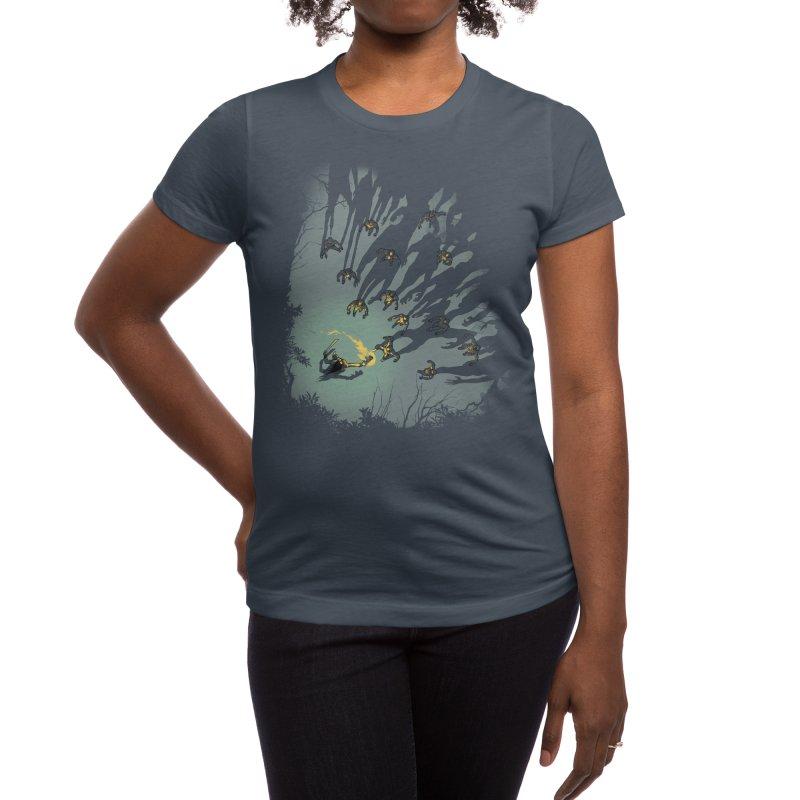 Zombie Shadows Women's T-Shirt by Threadless Artist Shop