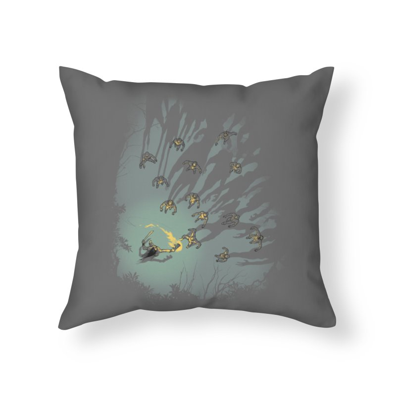 Zombie Shadows Home Throw Pillow by Threadless Artist Shop