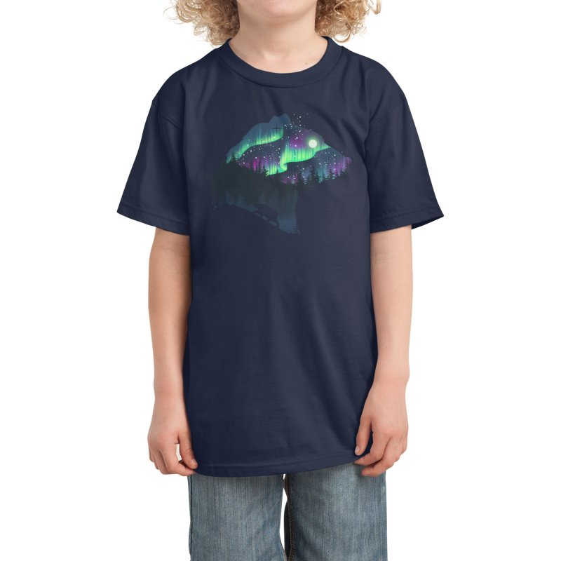 Northern Lights Kids T-Shirt by Threadless Artist Shop
