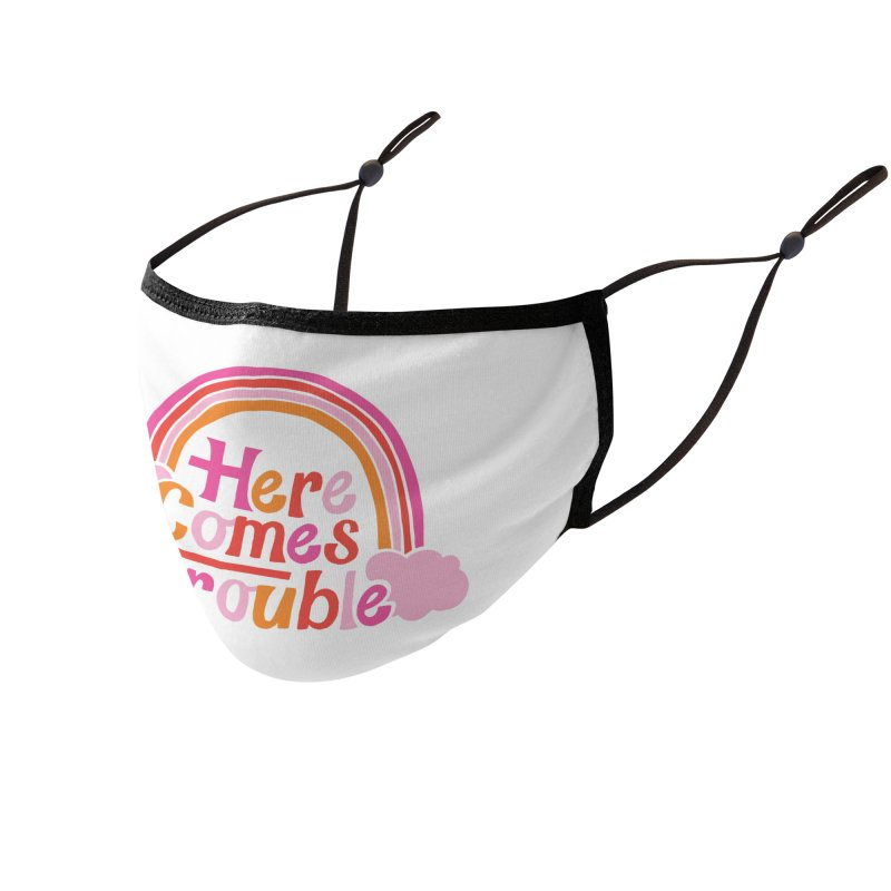 Here Comes Trouble Accessories Face Mask by Threadless Artist Shop