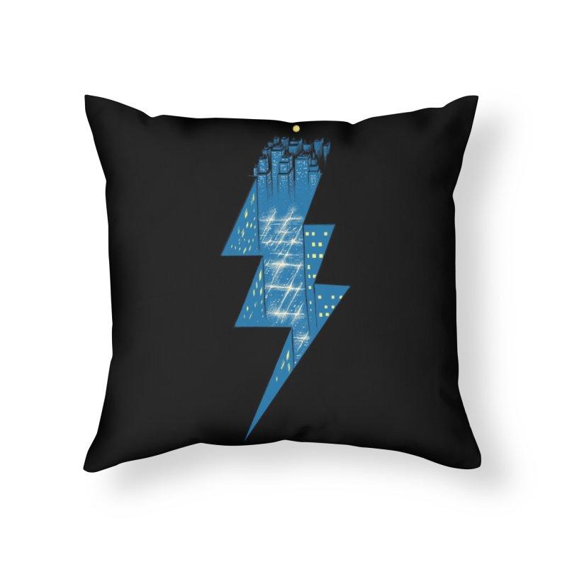 Thunder City Home Throw Pillow by Threadless Artist Shop
