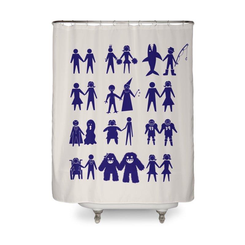Love is Love Home Shower Curtain by Threadless Artist Shop