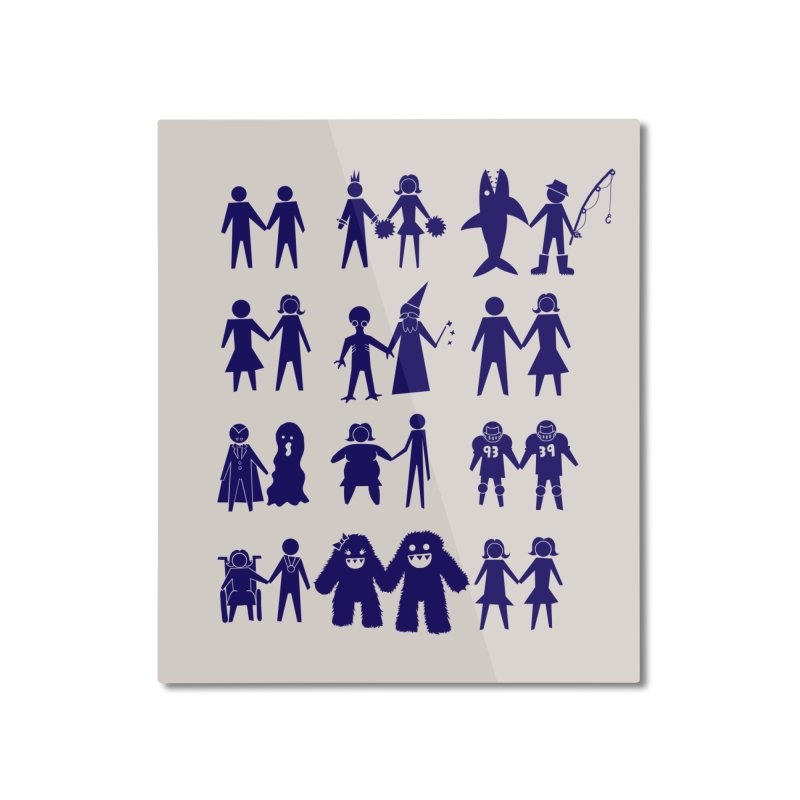Love is Love Home Mounted Aluminum Print by Threadless Artist Shop