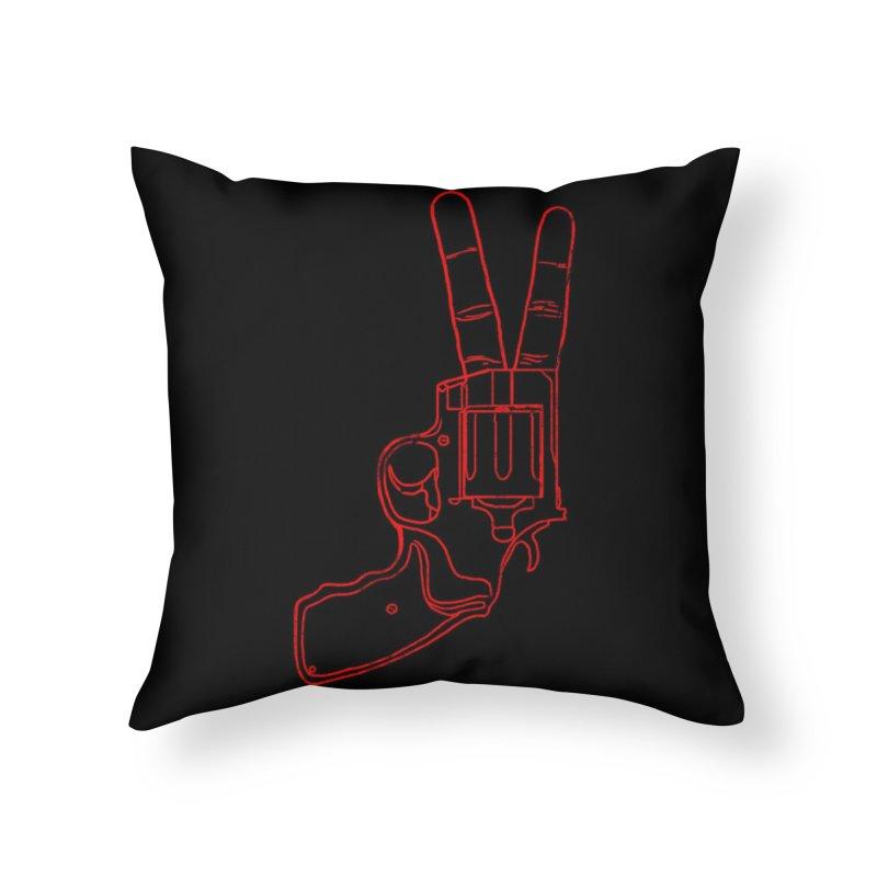 Peace Bang Home Throw Pillow by Threadless Artist Shop