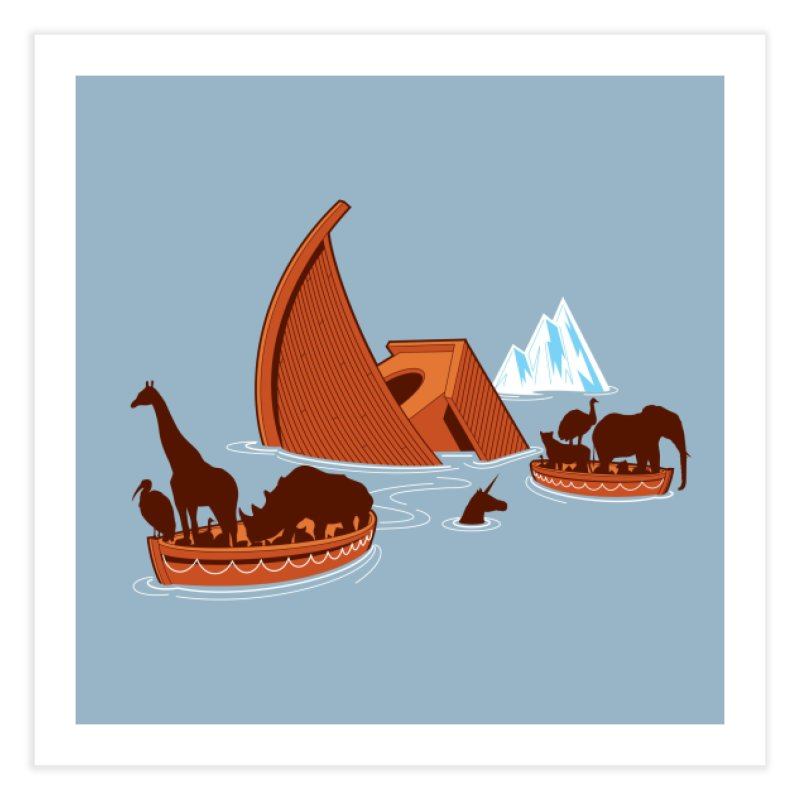 Biblical Disaster Home Fine Art Print by Threadless Artist Shop