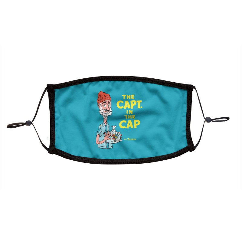 The Capt. in the Cap Accessories Face Mask by Threadless Artist Shop