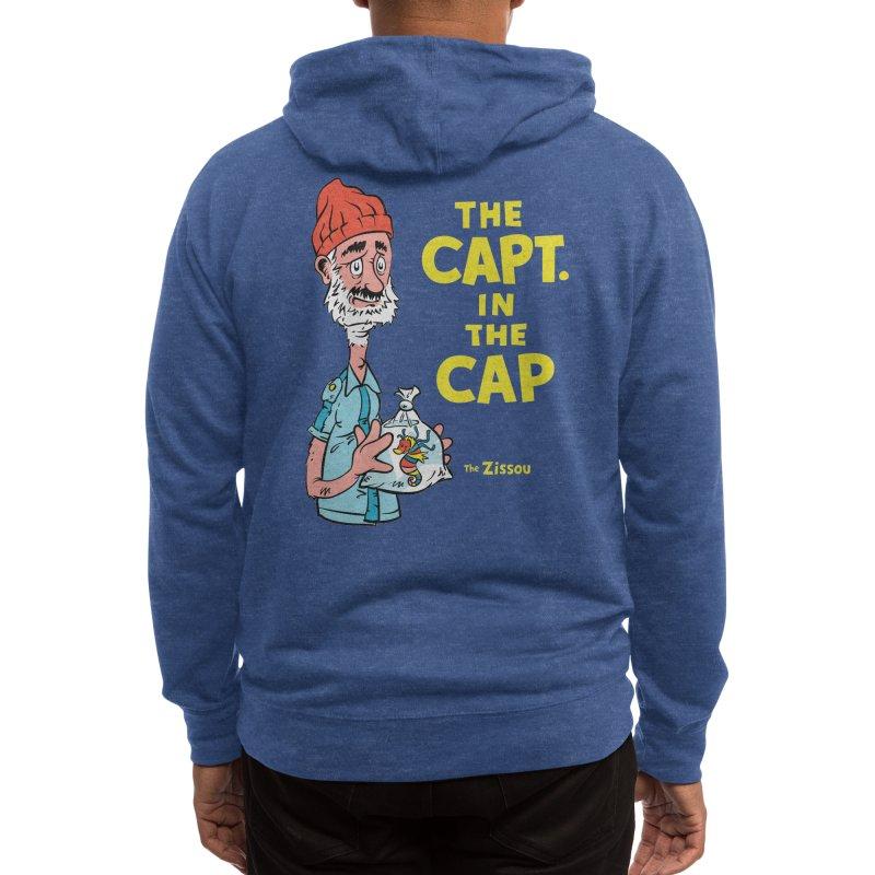 The Capt. in the Cap Men's Zip-Up Hoody by Threadless Artist Shop
