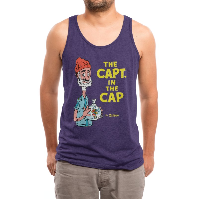 The Capt. in the Cap Men's Tank by Threadless Artist Shop