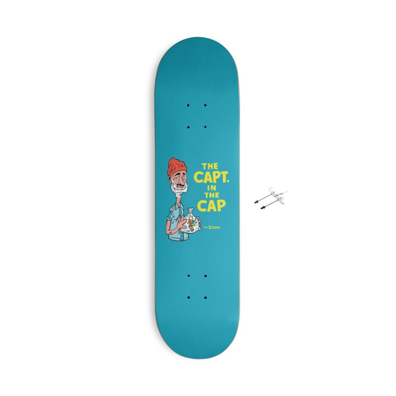 The Capt. in the Cap Accessories Skateboard by Threadless Artist Shop